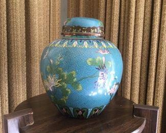 Chinese Cloissone Ginger Jar