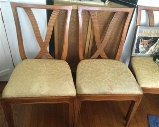 """MCM Thomlinson """"X"""" Back Chairs (6 side and 2 arm chairs)"""