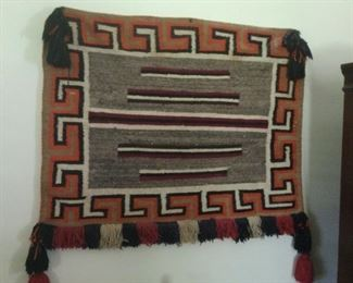Southwest American Indian Saddle Blanket with Tasseled Fringe   $225 (Bids Accepted)