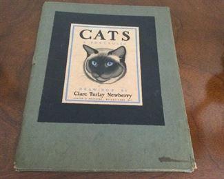 "Autographed Clare Newberry ""Cats"" Portfolio"
