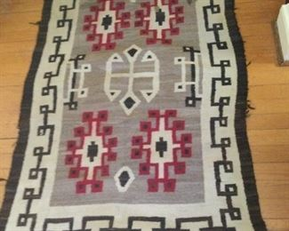 """Small Native American Indian Rug 52"""" x 32"""". $125"""