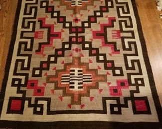 """Native American Indian Rug 44"""" x 62""""  $800 (bids accepted)"""