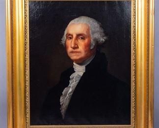c1902 George Washington Portrait After Gilbert Stuart