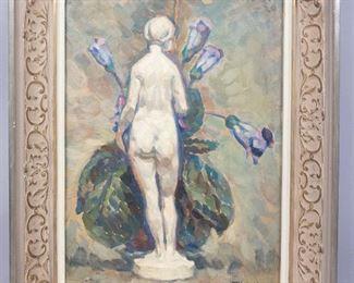 Oil on Board Still Life Painting Signed T Schaline 1920