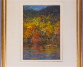 William Partridge Burpee Fall Colors Pastel Painting