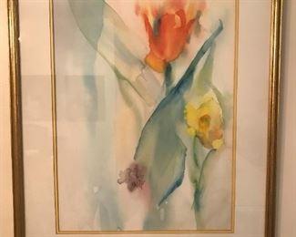 "Myrna ""Pud"" Ransdell Watercolor Painting"
