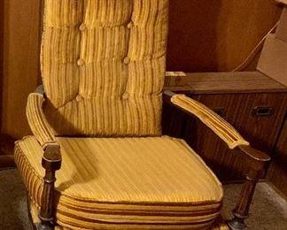 Vintage high-back chair