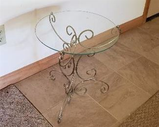 Ornate glass top stand