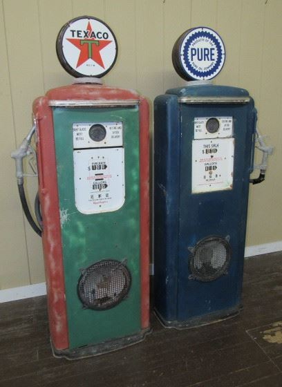 Decorative Metal Gas Pumps Made Into Speakers