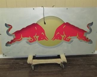 Large Metal Red Bull Sign