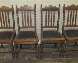 Barley Twist Dining Chairs