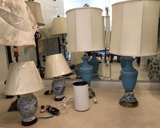 Variety of decorative lamps