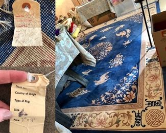 8x10 Oriental Rug with pad