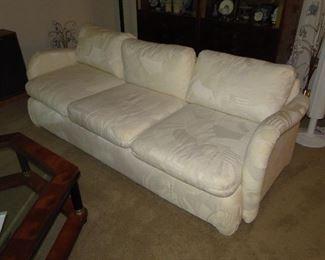 Thayer Coggin Sofa off white abstract 87x38x17 $600