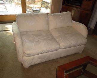 Thayer Coggin Off White Abstract Loveseat 61x37x17. $400