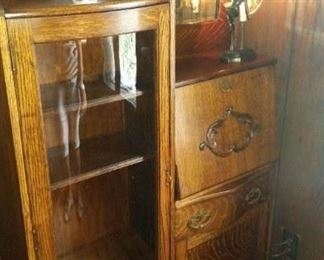Antique side by side tiger oak secretary (excellent condition), $1,200