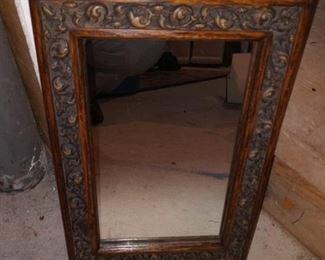 "Wood mirror (9""x12""), $25"