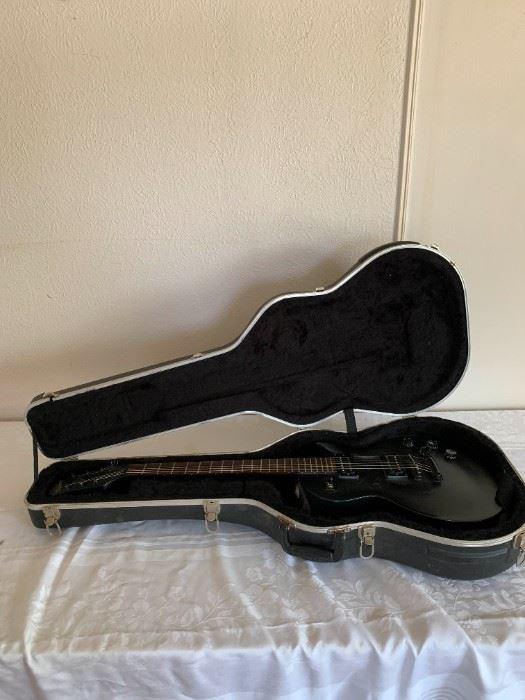 Black Epiphone Guitar