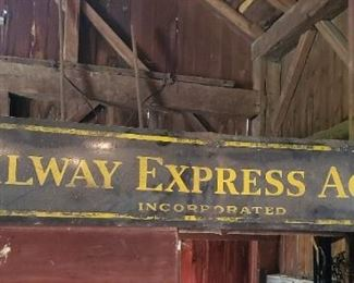 Metal Railway Express Agency Incorporated sign