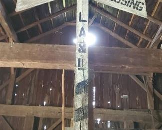 Railroad Crossing Sign Rural Countryside: Livonia, Avon and Lakeville Railroad (LA&L)