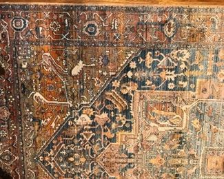 Oriental style synthetic rug