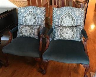 Baker upholstered chairs