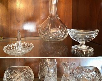 Waterford small vases and decanter
