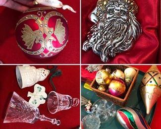 Waterford ornaments, Beleek, vintage