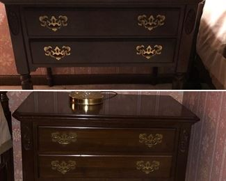 Queen Anne style bedside tables