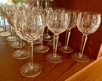 Waterford Lismore wine glasses x 9