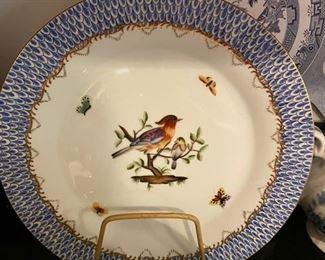 Set of 4 Bird Plates