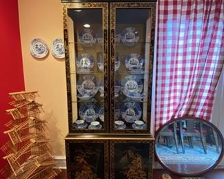 Lacquered China Cabinet