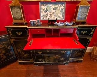 Lacquered Butler's Sideboard