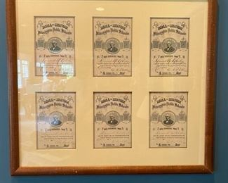 Antique Attendance Certificates