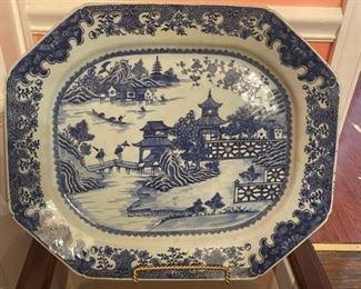 LARGE Blue & White Platter