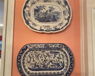 Blue & White Platters