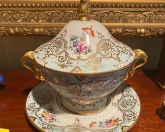 """Limoges """"Le Tallec"""" Tureen w/underplate"""