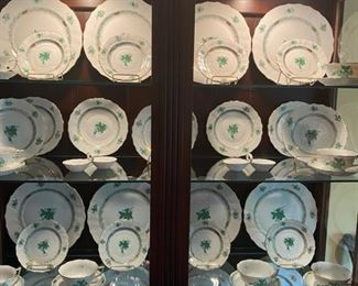 """Herend Green """"Chinese Bouquet"""" dishes"""