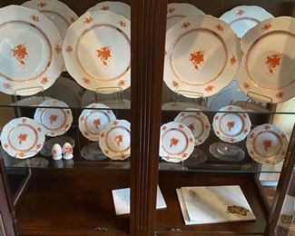 """Herend Rust """"Chinese Bouquet"""" dishes"""