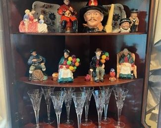 Waterford Millenium Toasting Flutes - Royal Doulton Figurines