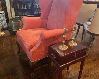 Wing Chair - Chest on Stand