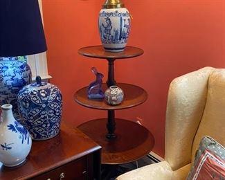 Tiered Mahogany table