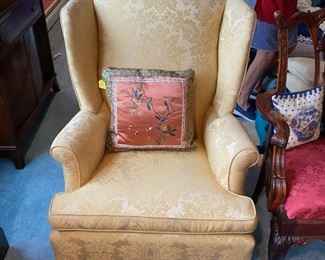 Gold Wing Chair