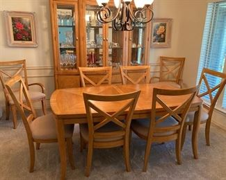 Formal Dining Set with Hutch and Side Table.