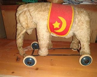 "Original Antique ""Steiff elephant pull toy"