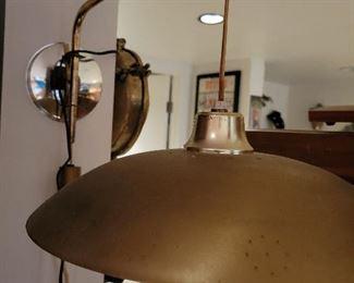 Mid Century Modern Adjustable Saucer Lamp