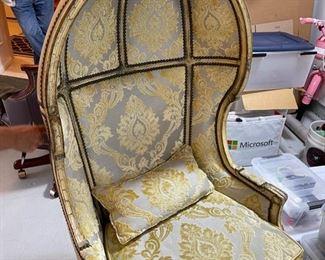 Hand Made Chaleu Balloon Chair  64Hx31Dx25W