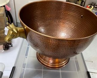 copper bucket by the Palm