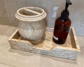 marble toiletries