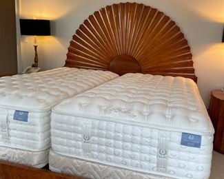 twin single electric bed on king size bed frame